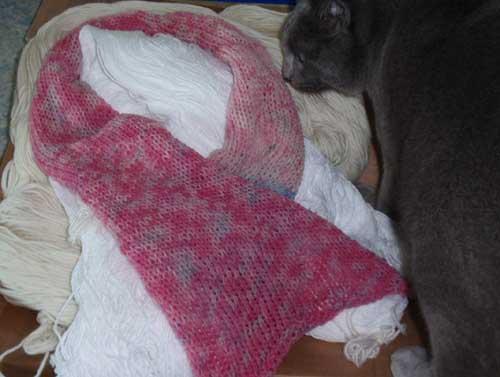 Schal aus Milchwolle