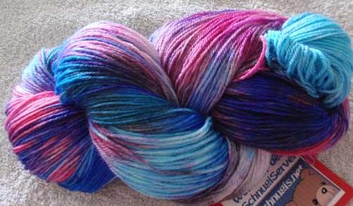 Gefärbte Merino-Lace-Wolle